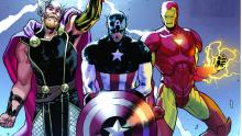 Iron Man, Thor, and Captain America in comic book