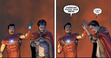 Iron Man and Doctor Strange in comic book