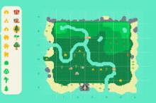 An idea of what a map landscape can look like.