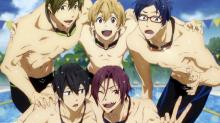 Swim Free for the team alongside Haru and the rest of his friends.