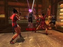 One of many high flying kung fu fights in Jade Empire