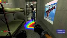 Rainbows are a side effect of being stuck in a cell too long.