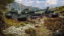 Japanese medium tanks, STB-1, STA-1 and STA-2 on the hill. With great DPM they can face enemies with ease.