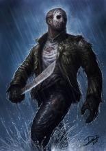 Some wonderful fan art of the machete wielding killer