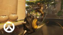 Junkrat uses Rip-tire, his ultimate ability