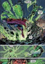 After first meeting each other in Justice League, Green Lantern and Superman have to sort out a few things