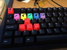 A unique way to change your most used keys to custom keys. This one has some CSGO vibes going on.