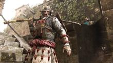A Kensei guards the stairs of a castle