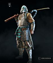 A Kensei armor set unlocked at high reputations