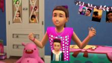 Look at her. She needs to talk her friends about the love of her life, Sim Smith! A sleepover sounds like just what she needs!
