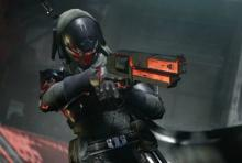 A Hunter with their Kindled Orchid hand cannon