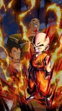 Krillin Vegeta Nappa Surrounded By Energy