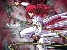 Kurama readying his rose whip