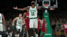 Kyrie Irving now stars for the Boston Celtics.