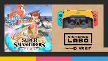 With the Nintendo Labo VR addon, you can play Super smash bros and other switch games in virtual reality.