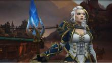 Lady Jaina looks on in deep thought, pondering the next best course of action