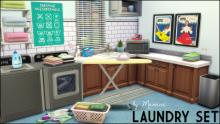 <The SIms 4>-<Laundry Set Mod>