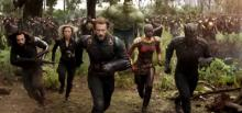 In Avengers: Infinity War, Black Panther and Captain America lead the Avengers and Wakandans against Thanos