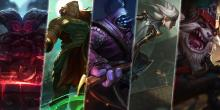 Ornn, Illaoi, Jax, Camille, and Kled, the top laners.