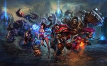 Graves, ahri, and other champions featured in LoL artwork.