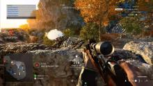 A player scans the countryside with his Lee-Enfield.