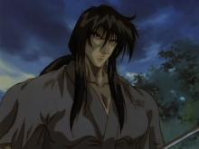 Kenshin learns the final technique of the Hiten Mitsurugi-ryu from his master.