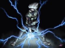 Kakashi poses with his lightning blade