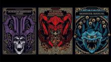 Three limited edition special art covers of the base rulebooks. The Dungeon Masters Guide, Player's handbook, and Monster Manual.