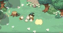 A screencap of the sprites seen in Little Witch in the Woods