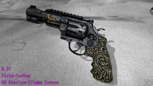 This revolver's pattern covers up the bland background colors very well!