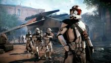 Clone troopers touch down on Naboo.