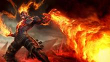 Consumed by his powerlust, The Burning Vengeance prepares for slaughter.