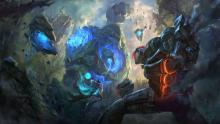 Vi and Ahri tag-team the Blue Sentinel.