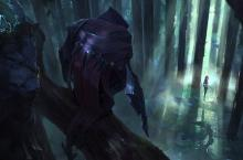 Rengar and Talon watch an unsuspecting Katarina from the treetops.