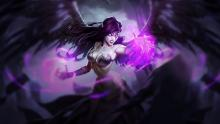 Morgana, the Fallen Angel, in all her dark glory.