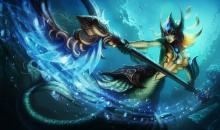 Nami, the Tidecaller, commands the sea in battle.