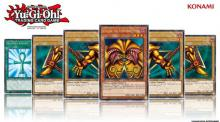 The legendary Exodia showcased in this promotional artwork!