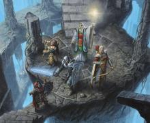 A group of adventurers become lost in the twirling staircases of a mad mage.