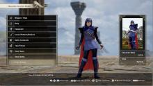 From the Fire Emblem series, this is Lucina recreated in the character creation in Soul Calibur VI.