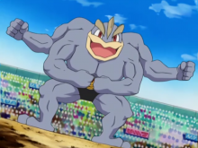 Machamp is always ready for a battle.