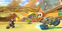 Mario Kart 8 Deluxe: Shy Guy leaves Waluigi and Wario in the dust