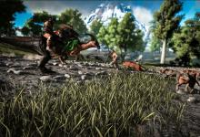 Male Survivor Running From Sabertooths and Hyaenodons