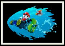 One of the slowest karts to drive into the water is Barrel Train, since it was meant to be driven on land.