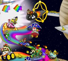 One of the levels on mario kart 7. Picking basic karts can bend your advances to win. Barrel train, B Dasher, and royal ribbon are the most balanced in Mario kart, but each kart comes with their own advantages.