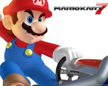 Wallpaper of Mario from Mario Kart 7. Some kart have their very own advantages for winning the race, while the most balanced karts are Barrel Train, Birthday Girl, and B Dasher.