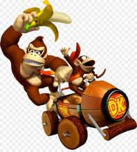 Donkey kong and Diddy team up on Mario Kart Double Dash, but in Mario Kart 7, the Barrel Train has altered including its advantages to winning the race.