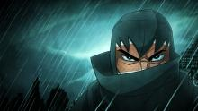 The deadly ninja on a stormy night.