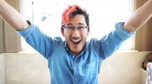 Markiplier happily talking to his viewers.