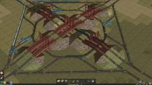 A railroad system in the making for you to begin traveling the realm of your creation! It's just too bad there aren't any people to run over with the trains.