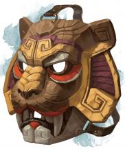 If you've unlocked Azaka you may recognize this image for when Azaka transforms into her weretiger form. It's actually based off a real DnD item called the mask of the beast.